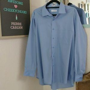 Pierre Cardin men's blue dress shirt like new